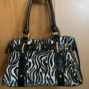 Like New Zebra Print Women's Purse/Bag